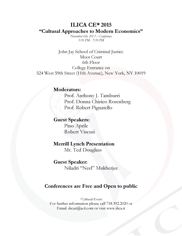 ILICA CE 2015 - Cultural Approaches to Modern Economics